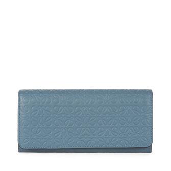 LOEWE Continental Wallet 灰蓝色 front