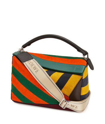 LOEWE Puzzle Rugby Large Bag マルチカラー front
