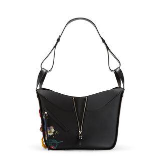 LOEWE Hammock Bouquet Medium Bag 黑色/多色 front