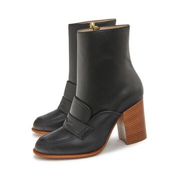 LOEWE Loafer Boot 85 Black front