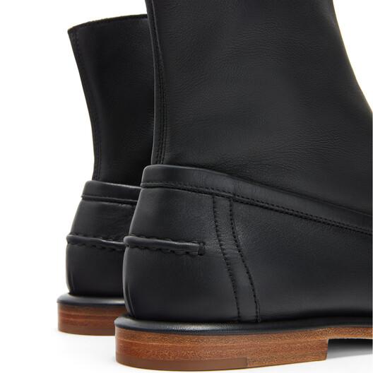 LOEWE ローファー ブーツ ブラック front