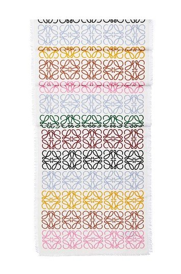 LOEWE 45X200 Anagram Scarf multicolor/white front