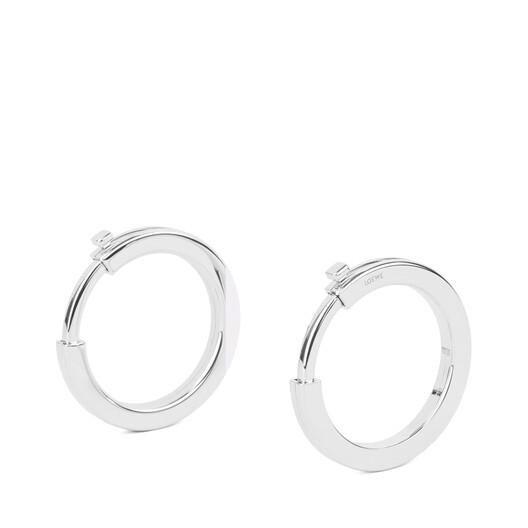 LOEWE Metallic Rings Palladium front
