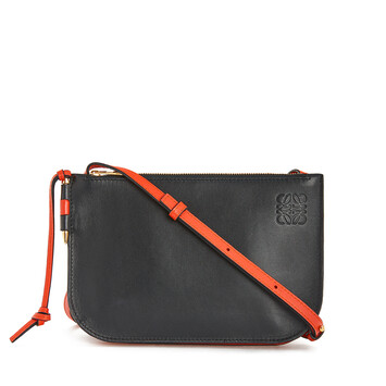 LOEWE Gate Double Zip Pouch Vermillion/Black front