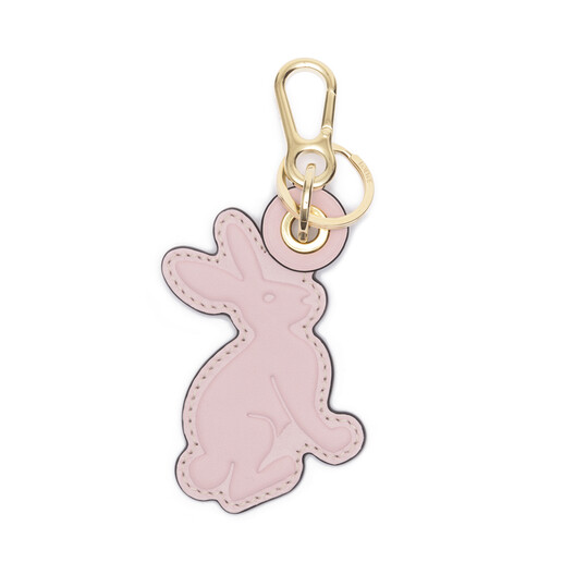 LOEWE Rabbit Leather Charm Light Pink/Blush front