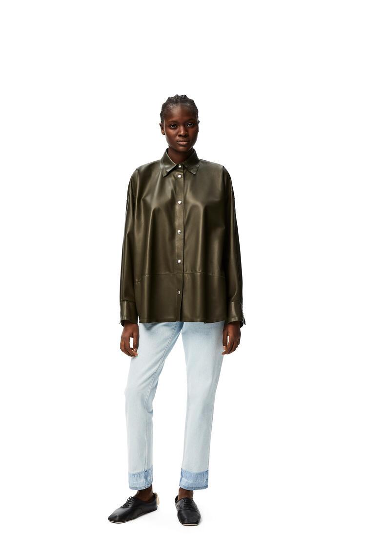 LOEWE Oversize shirt in nappa Dark Green pdp_rd