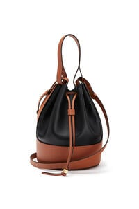 LOEWE Balloon bag in nappa calfskin Black/Tan pdp_rd
