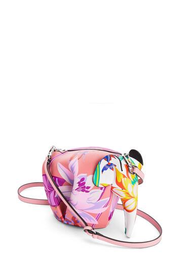 LOEWE Mini Elephant bag in printed classic calfskin Pink/White pdp_rd