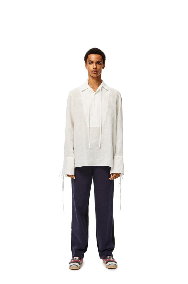 LOEWE Tie shirt in linen White pdp_rd