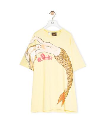 LOEWE Oversize T-Shirt In Mermaid Cotton Light Yellow front