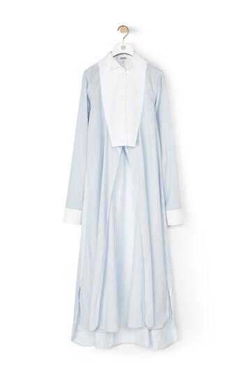LOEWE Stripe Shirtdress Blanco/Azul front