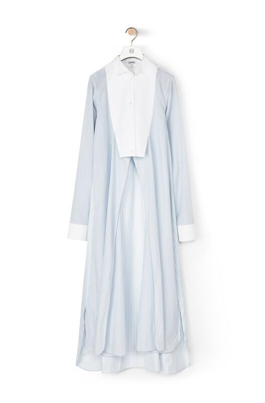 LOEWE Stripe Shirtdress White/Blue front