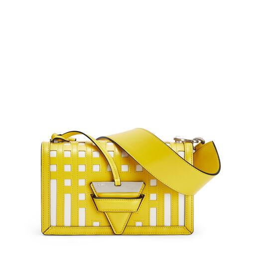 LOEWE Barcelona Grid Bag Yellow/White front