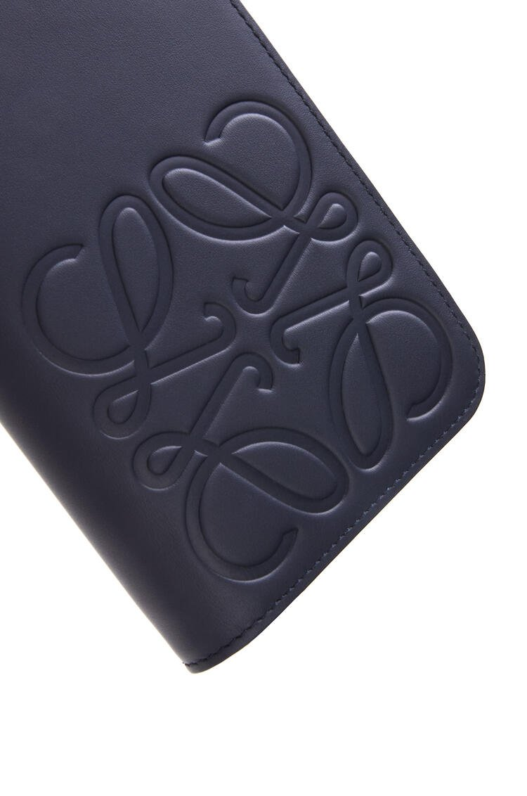 LOEWE Open Wallet in smooth calfskin Midnight Blue pdp_rd