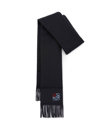 LOEWE 17X190 Padded Scarf Anagram 海軍藍 front