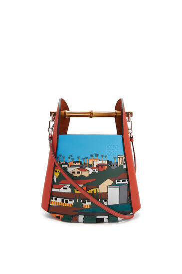 LOEWE 洛杉矶 系列牛皮革 Bamboo Bucket 手袋 Vermillion/Multicolor pdp_rd