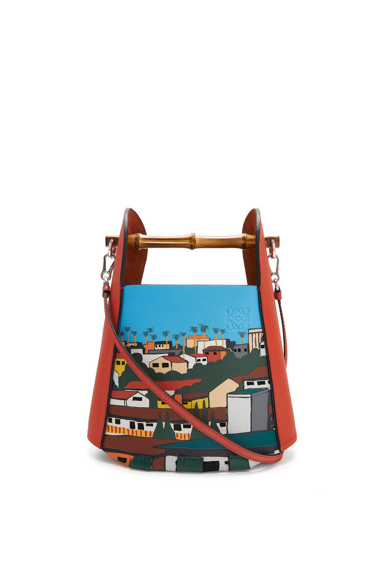 LOEWE L.A. Series Bamboo Bucket bag in calfskin Vermillion/Multicolor pdp_rd