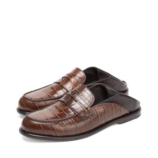LOEWE Slip On Loafer Marron/Negro front