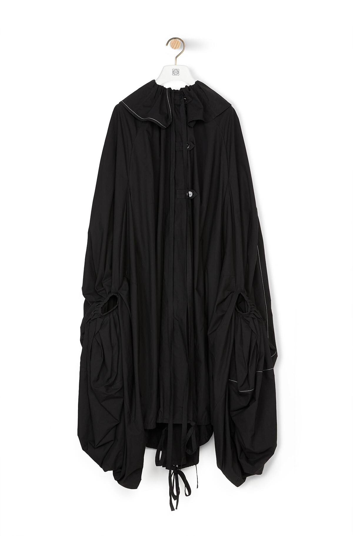 LOEWE Oversize Coat Dress Black front