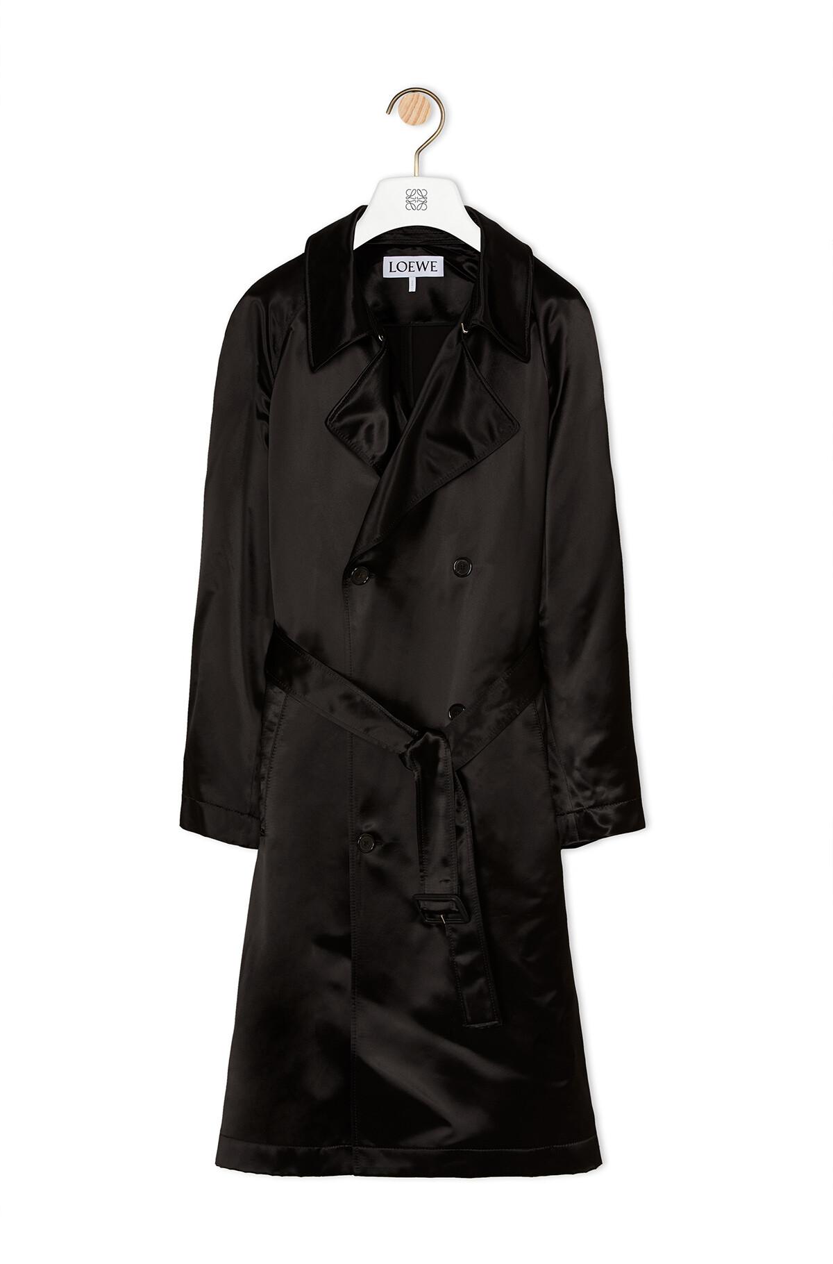 LOEWE Coat Satin Negro front