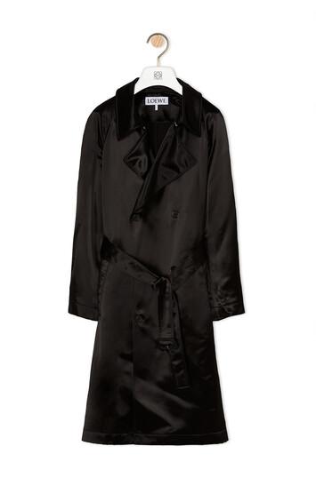 LOEWE Satin Coat 黑色 front