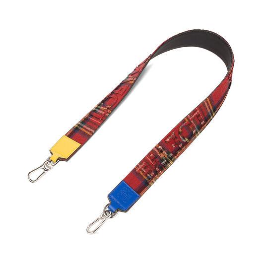 LOEWE Tartan Strap Red/Black front