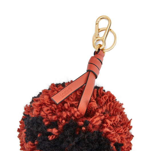 LOEWE Pompon Charm Medium Vermillion/Black front
