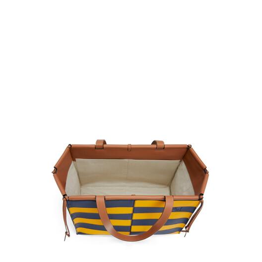 LOEWE Cushion Tote Rugby Yellow Mango/Marine front