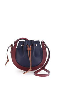 LOEWE Small Horseshoe bag in nappa and calfskin Midnight Blue/Wine pdp_rd
