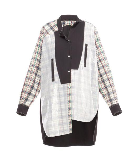 Long Sequins Asymmetric Shirt
