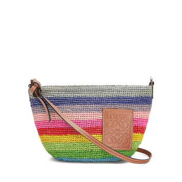 LOEWE Paula's Pochette Rainbow Bag Multicolor/Tan front
