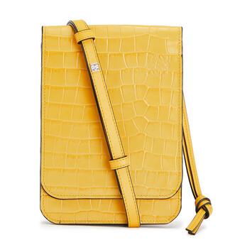 LOEWE Gusset Flat Crossbody Bag Yellow front