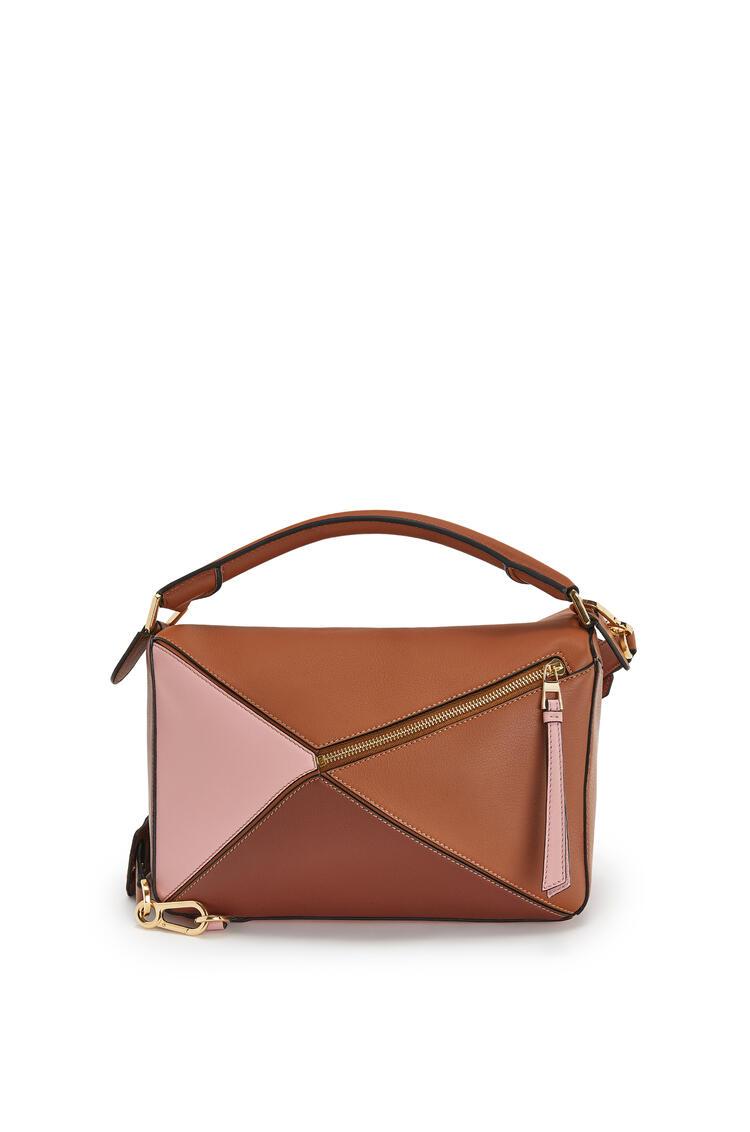 LOEWE 经典小牛皮 Puzzle 手袋 Tan/Medium Pink pdp_rd