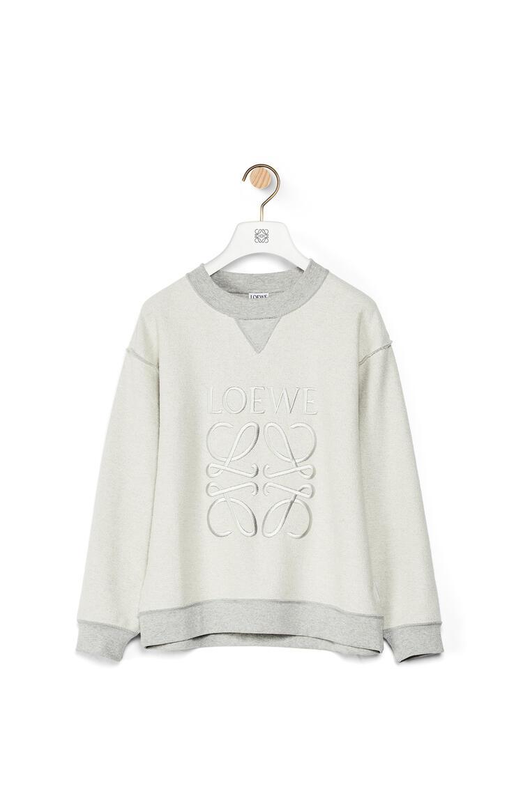 LOEWE Sudadera de algodón con el anagrama bordado Gris Melange pdp_rd