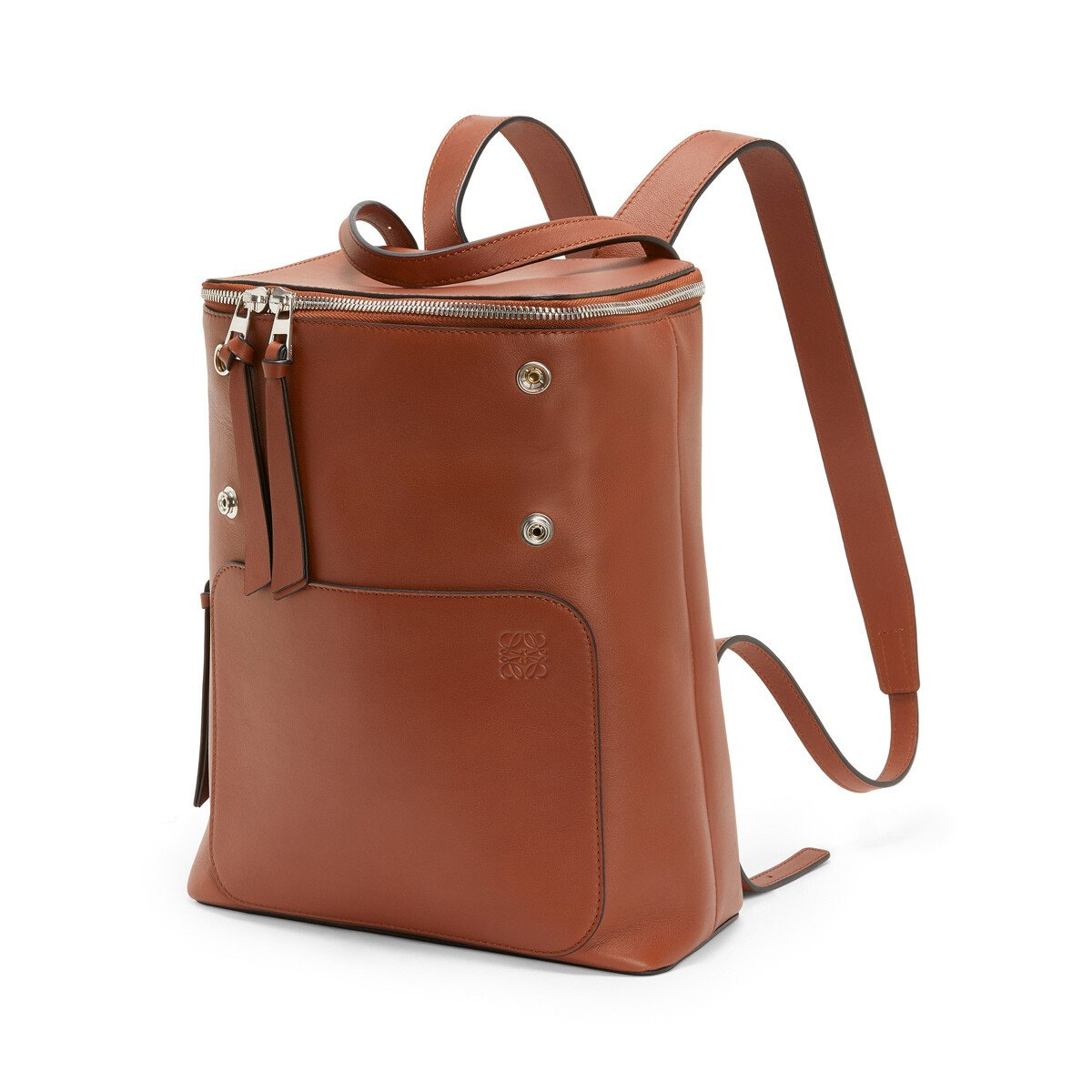 LOEWE Goya Small Backpack Rust Color front