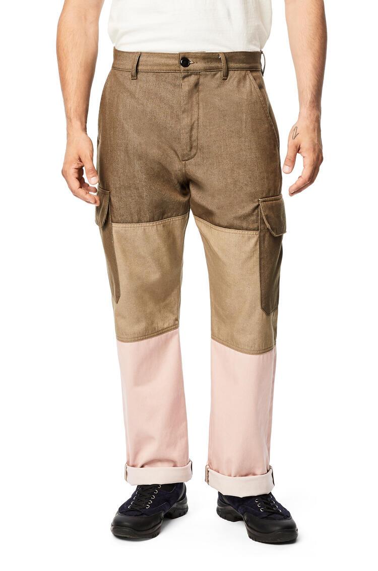 LOEWE Pantalón en algodón Verde/Rosa pdp_rd