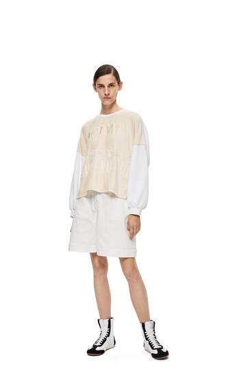 LOEWE Embroidered Sweatshirt In Cotton Ecru/White pdp_rd