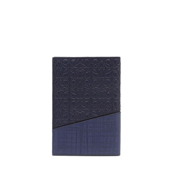 LOEWE Puzzle Passport Cover 海军蓝 front