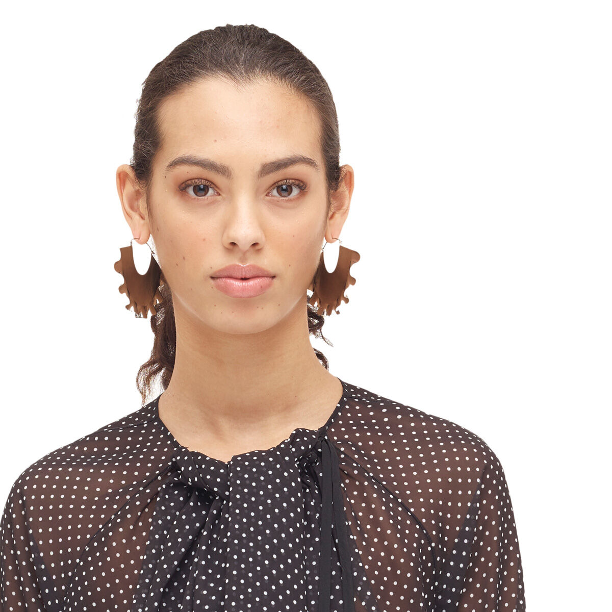 LOEWE Frills Earrings Palladium all