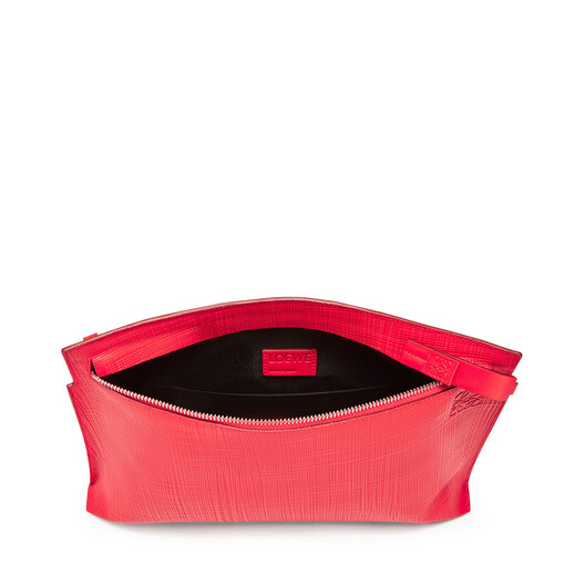 LOEWE T Pouch Linen Primary Red/Palladium front