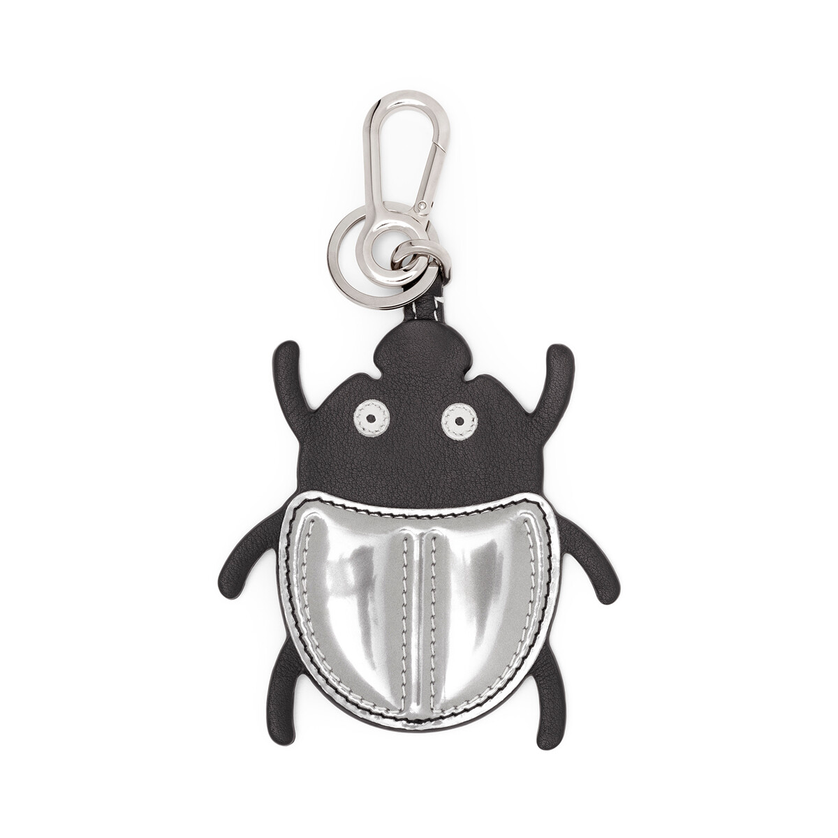 LOEWE Charm Escarabajo Negro/Plata front