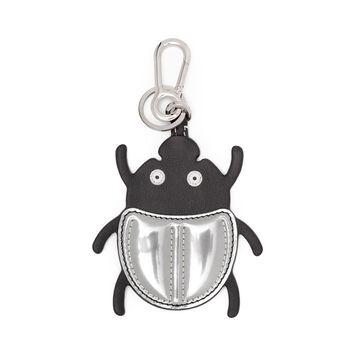 LOEWE Beetle Charm 黑色/银色 front