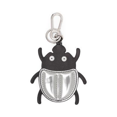 LOEWE Beetle Charm Black/Silver front