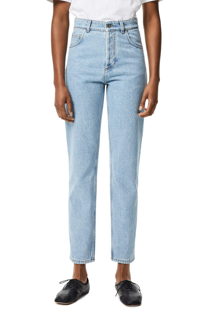 LOEWE Tapered jeans in stone washed denim Light Blue pdp_rd
