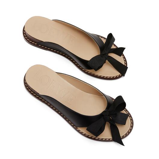 LOEWE Wedge Flip Flop Black front