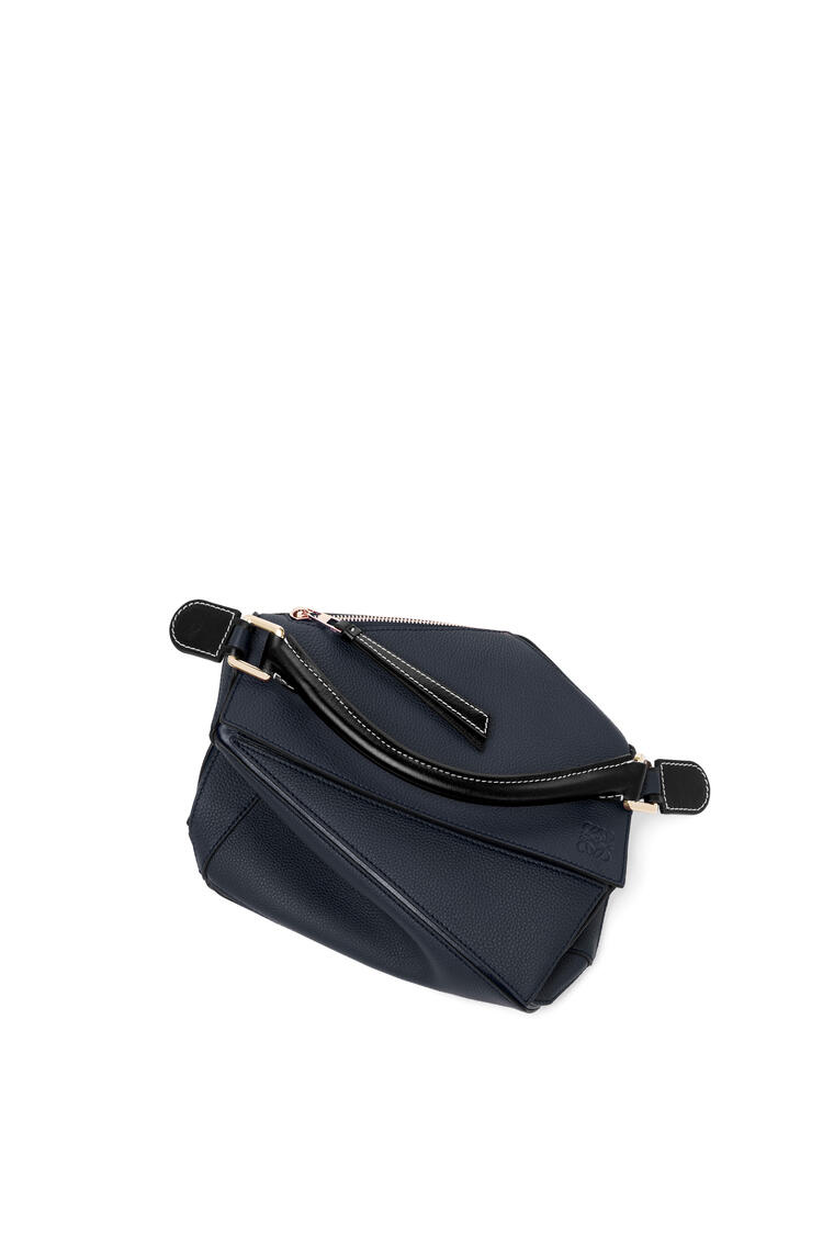 LOEWE 小号柔软粒面小牛皮 Puzzle 手袋 Midnight Blue/Black pdp_rd