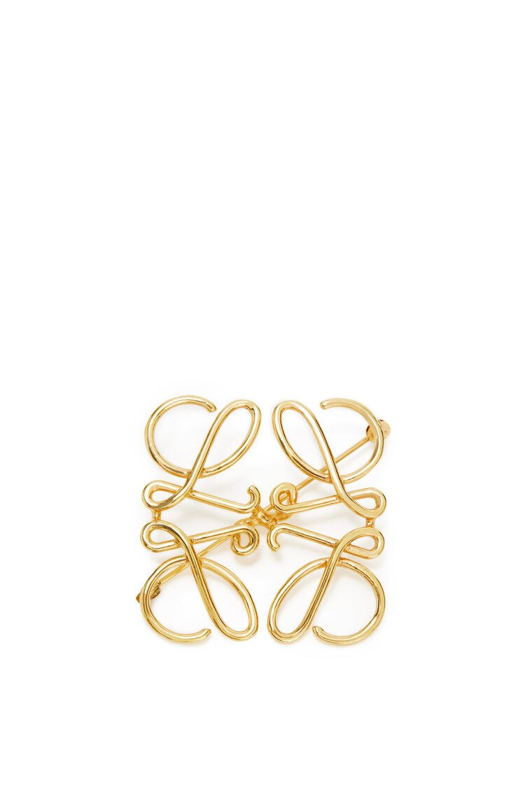 LOEWE Anagram brooch in metal Gold pdp_rd