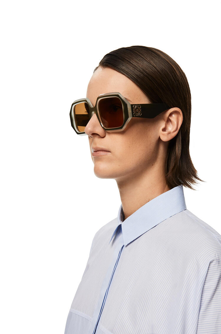 LOEWE Gafas de Sol Hexagonal Khaki Matizado pdp_rd