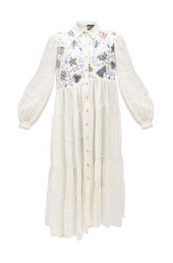 LOEWE Paula Dress Sequins Blanco Roto front