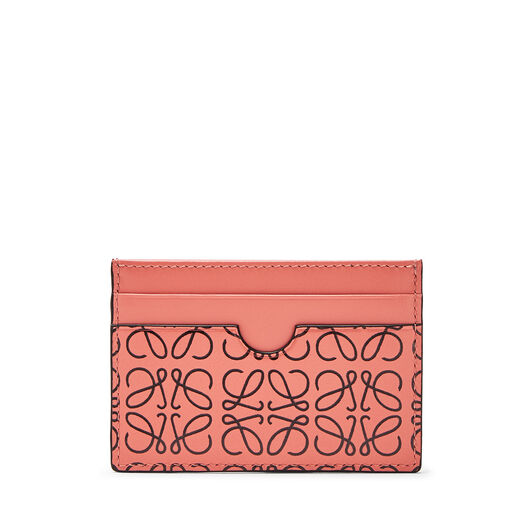 LOEWE Plain Card Holder Pink Tulip/Black all